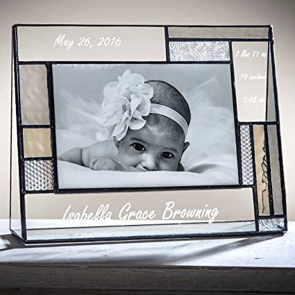 Amazon.com: J Devlin Pic 392-46H EP530 Personalized Baby Frame ...