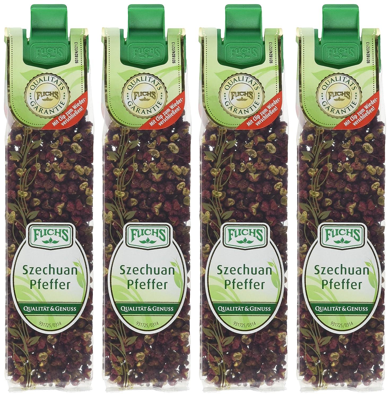 FUCHS Szechuan Pfeffer, 4er Pack (4 x 13 g): Amazon.de: Lebensmittel ...