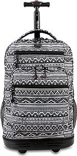 J World New York Sundance Laptop Rolling Backpack, Tribal, One Size