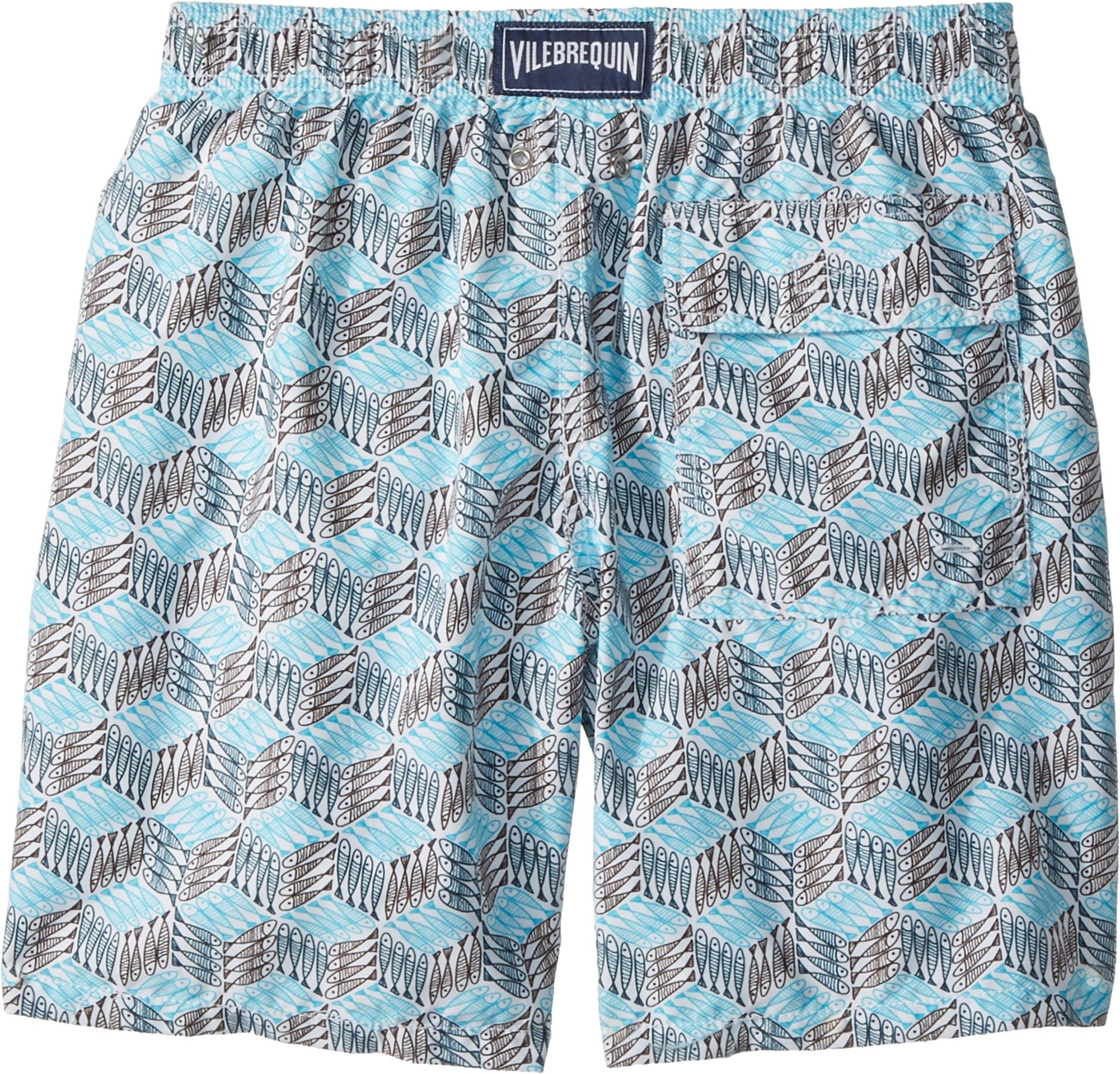 Vilebrequin Kids Boy's Fishes Cube Swim Trunk (Big Kids) Grey/Blue 10 Years by Vilebrequin Kids (Image #2)