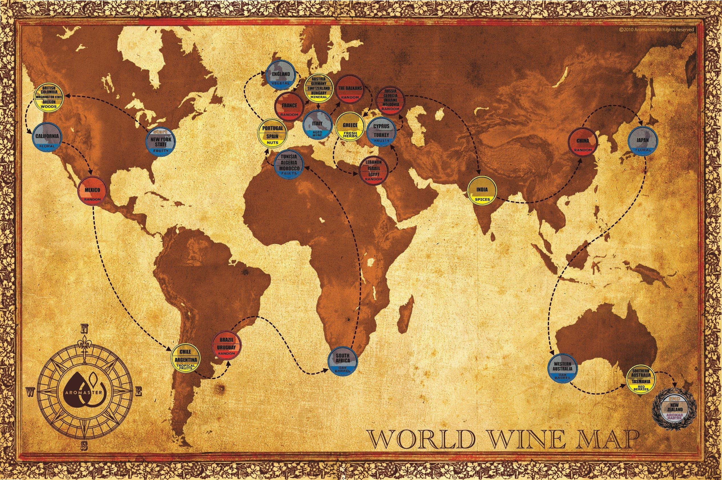 Master Wine Aroma Tasting Kit - 88 aromas (game board included)