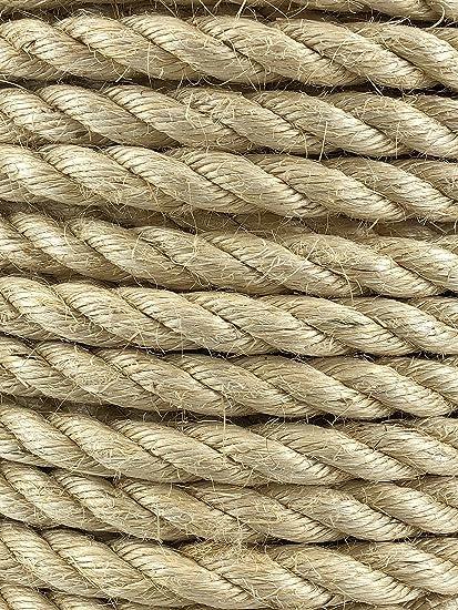 Cuerda de sisal natural de 36 mm x 10 metros, gatos, jardín, terraza
