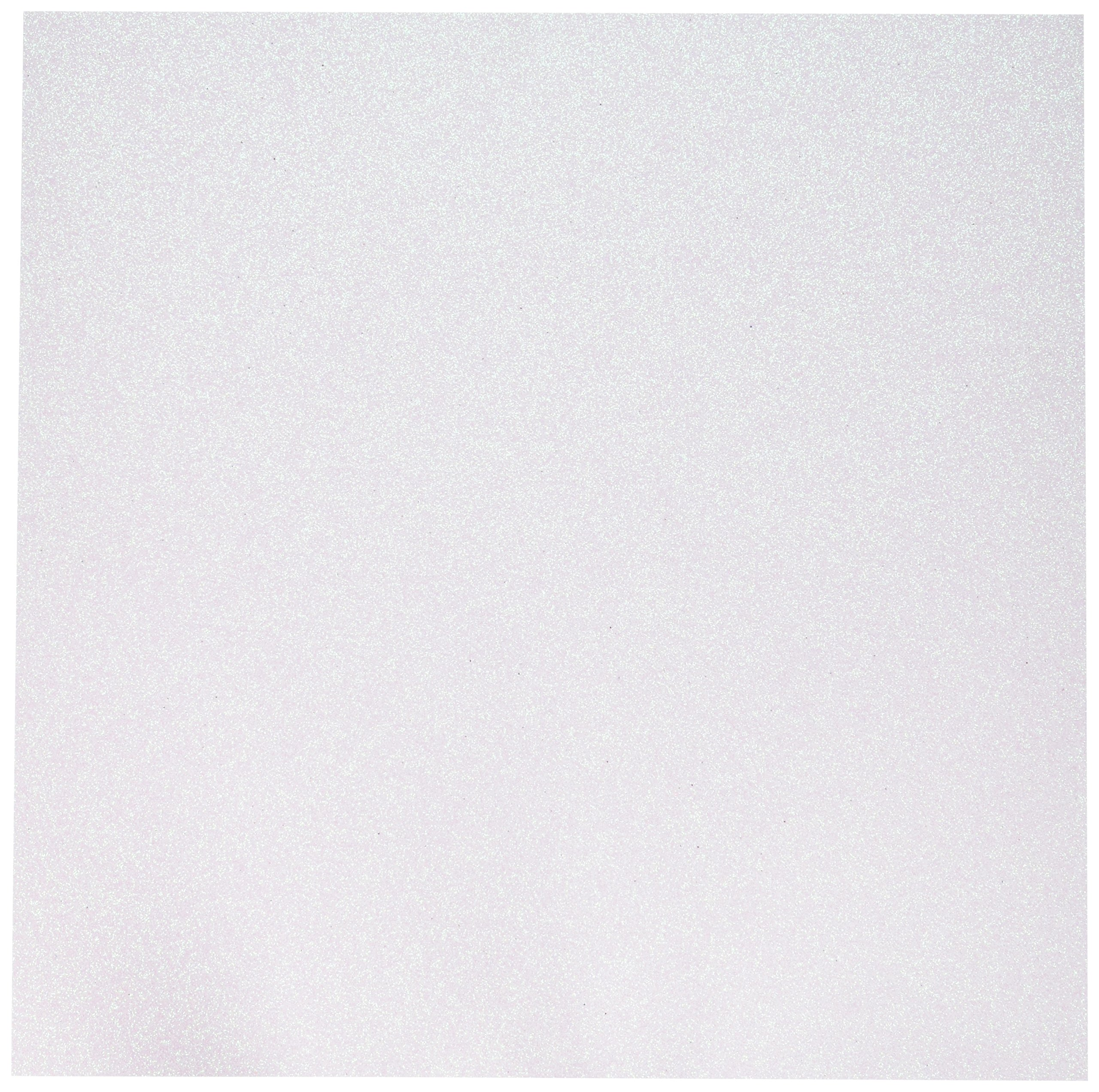 American Crafts Glitter Cardstock, 12 by 12-Inch, White (15 sheets per pack) by American Crafts