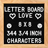 "8x8 Small Felt Letter Board - 344-Piece 3/4"" Letter Set + Special Characters and Canvas Letter"