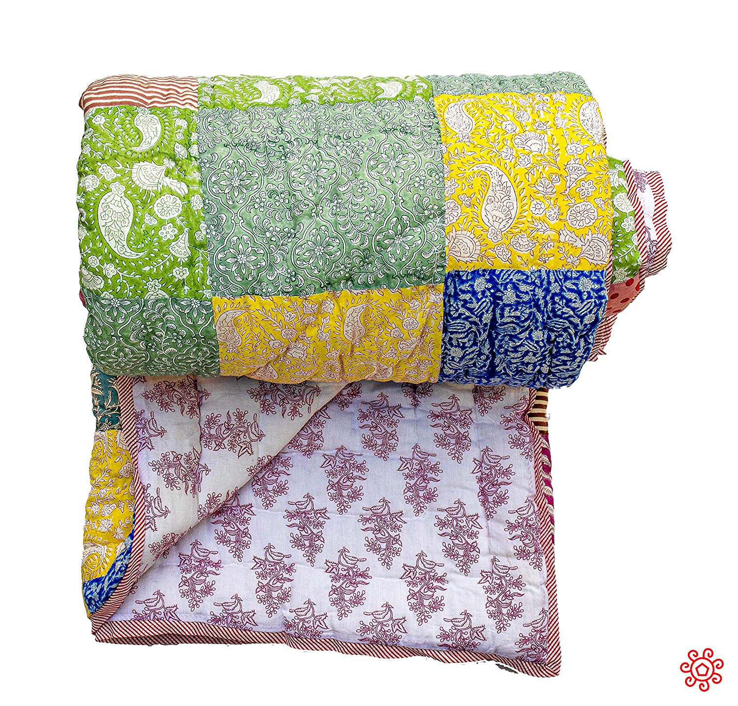 Image of All New Roysha 2020 Queen Quilt Collection - 100 Percent Handmade Patchwork Quilt - Qpw/202 Home and Kitchen