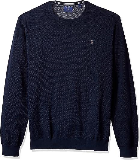 GANT Cotton Pique Crew suéter para Hombre