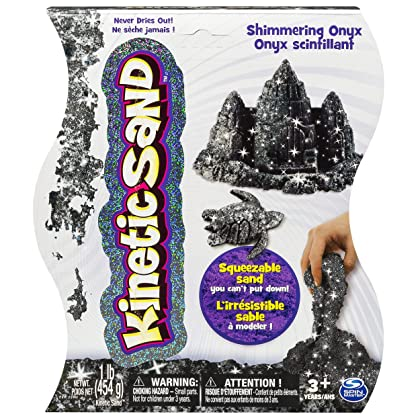 Kinetic Sand, 1lb Shimmering Black Onyx