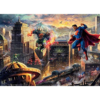 Ceaco Thomas Kinkade DC Collection Superman - Man of Steel Jigsaw Puzzle, 1000 Pieces (3154-4): Toys & Games