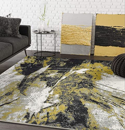 Contemporary Abstract Turkish Area Rug