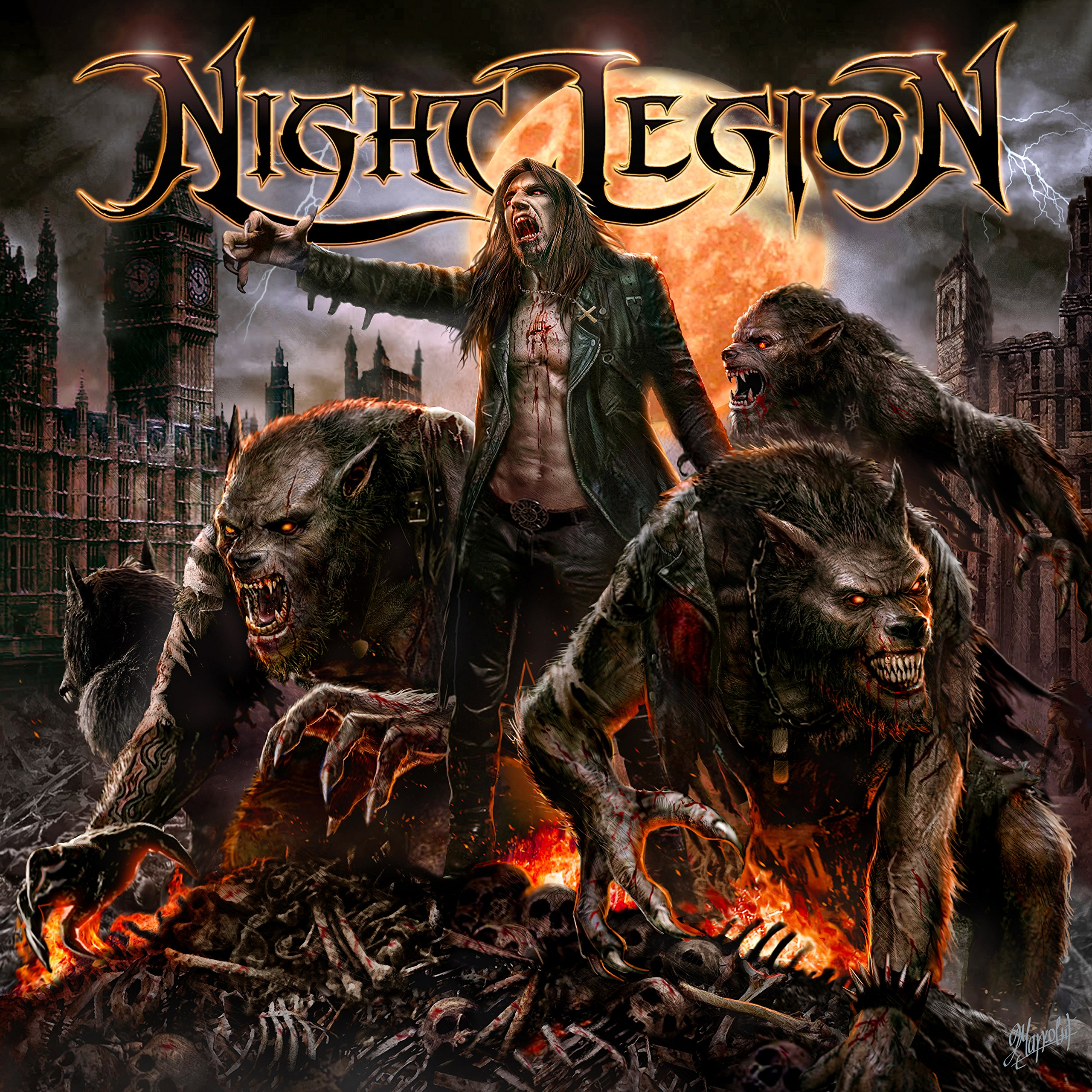 CD : Night Legion - Night Legion (CD)