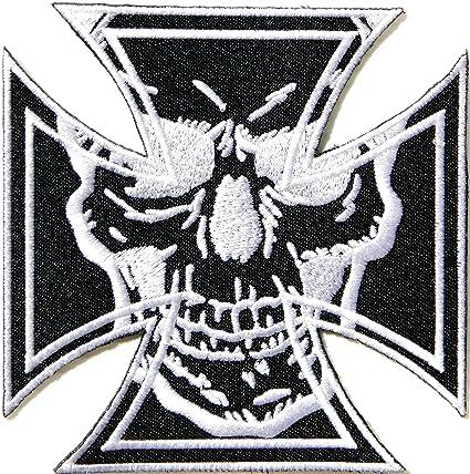 Amazon com: Cross Devil Master Skull Ghost Devil Outlaw MC