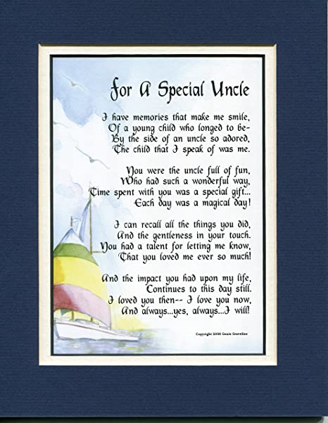 Amazoncom A Touching Poem Gift Birthday Present For A Special