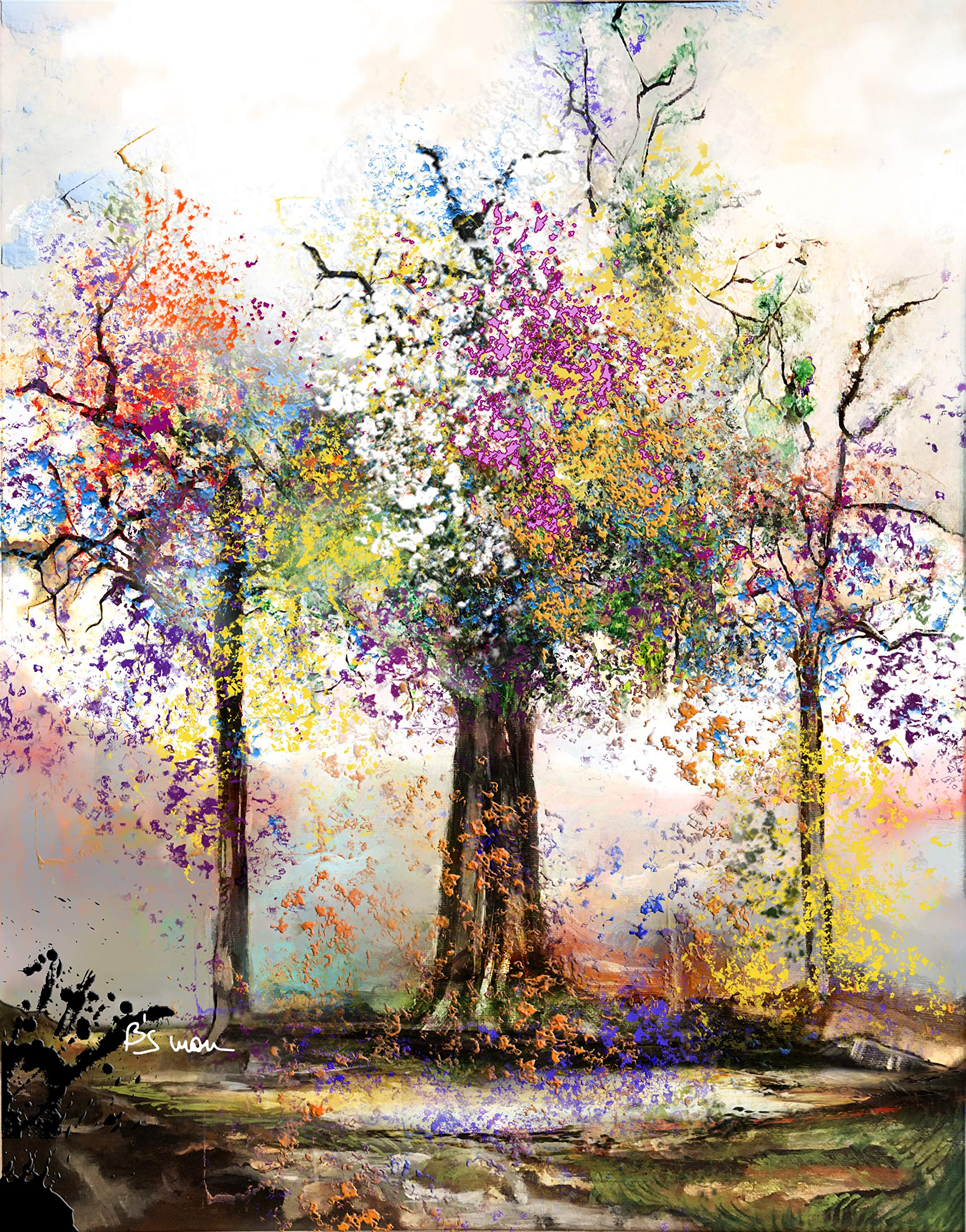 Life tree (Limited Edition on Fine Art Paper - 19x21 in) by
