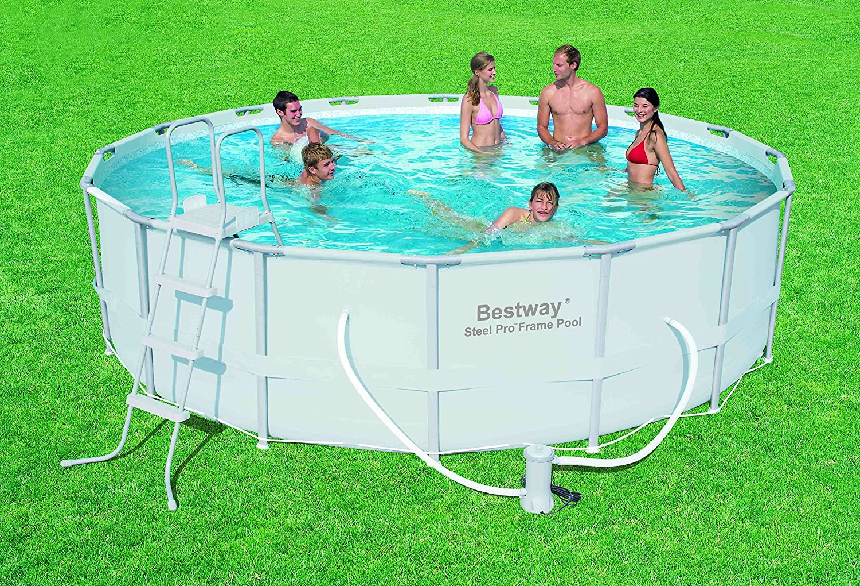 Bestway 56266 Frame Pool Power Steel Set mit Filterpumpe + Zubehör ...