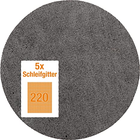 Klett Gitterleinen Schleifgitter 225mm Langhalsschleifer Schleifscheiben Farbe,S