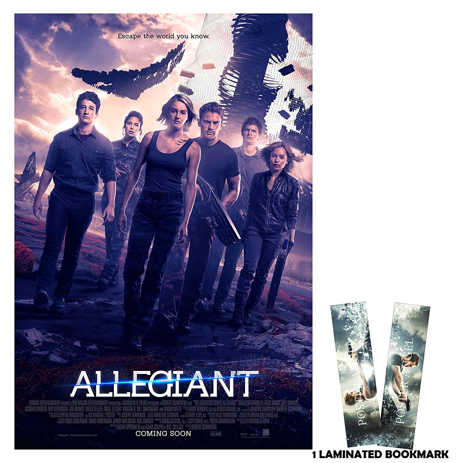 Allegiant 2016 All 13 In X 19 In Movie Poster Flyer Borderless Free Bookmark The Divergent Series Shailene Woodley Theo James By Poster Angel Amazon In Home Kitchen