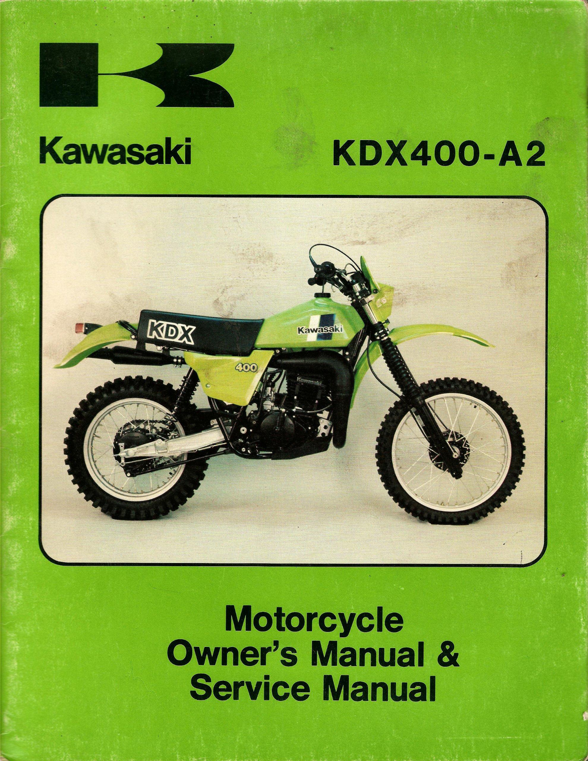 kawasaki kdx 400 a2 motorcycle owner s manual and service manual rh amazon com
