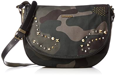 Amazon.com: Bolsa de Desigual Florencia Militar studs hembra ...