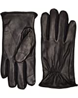 Izod Men's Gathered Raised Point Leather Glove With Touchscreen Technology