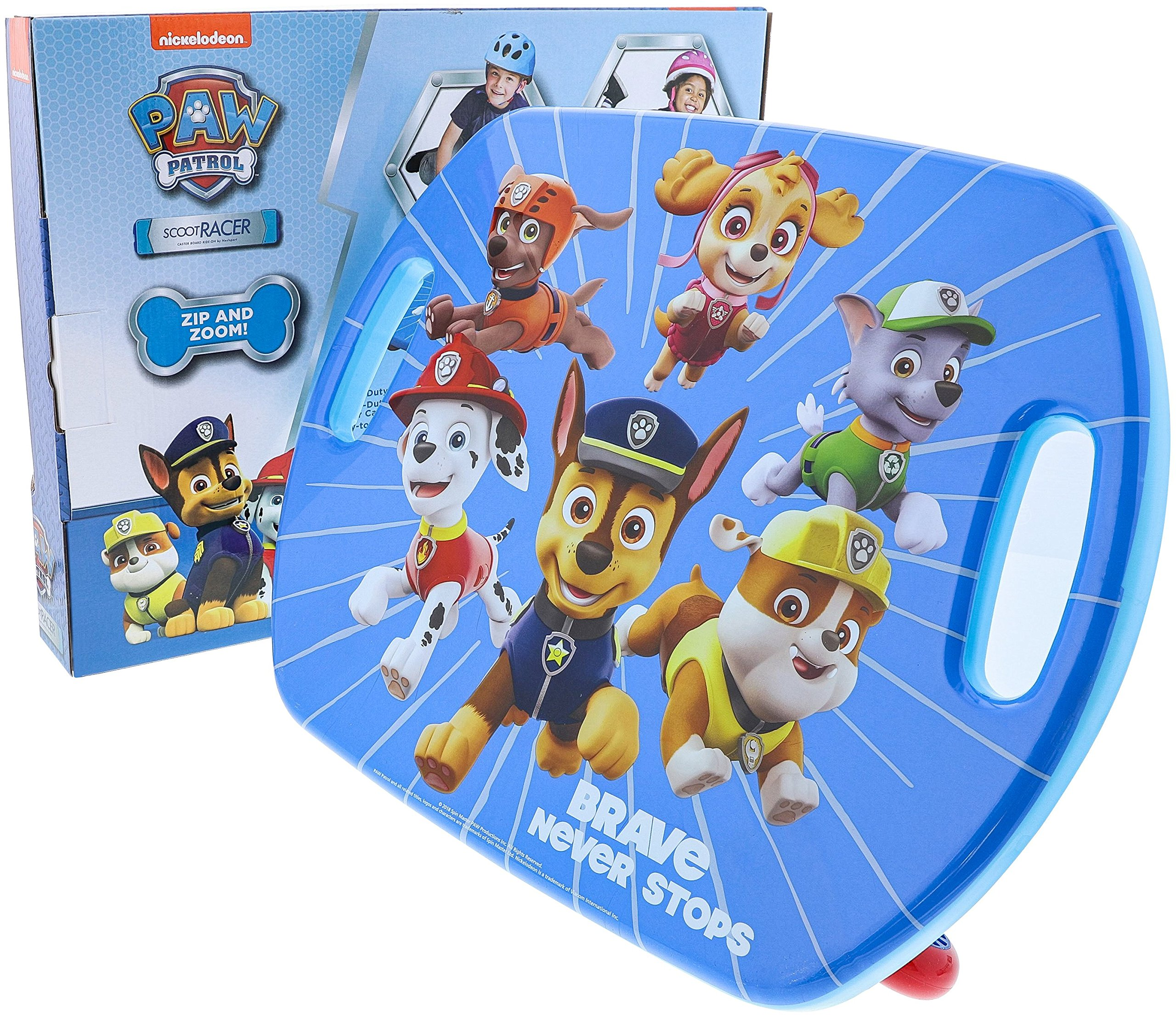 Nextsport Scoot Board Scooter Board with Casters for Kids (Scoot Racer Paw Patrol, 16.5'' x 13.5'') by Nextsport