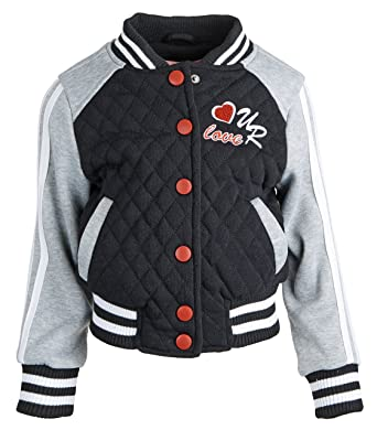 Amazon Urban Republic Baby Girls Jersey Quilted Varsity Jacket
