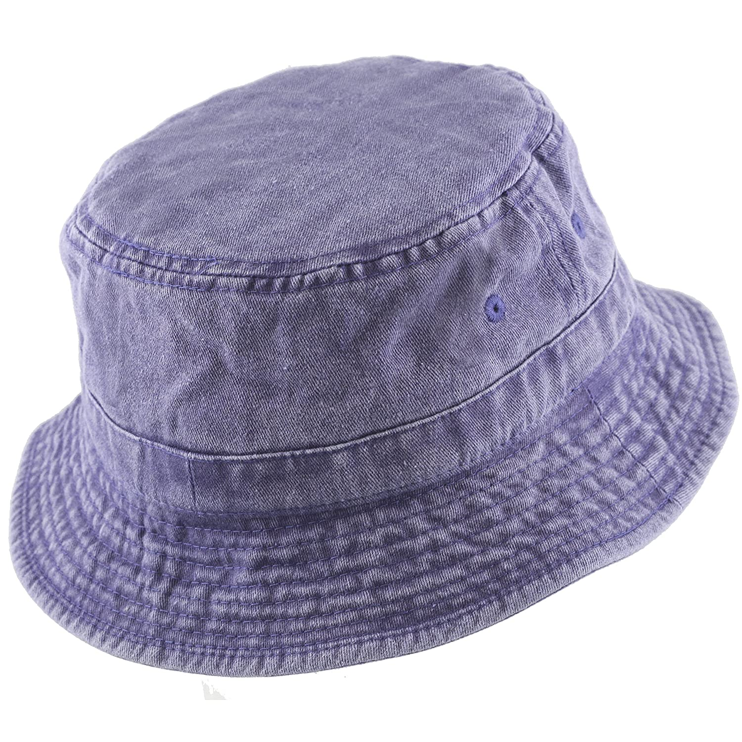 THE HAT DEPOT 300N 100/% Cotton Packable Pigment Washed Cotton Bucket Hat