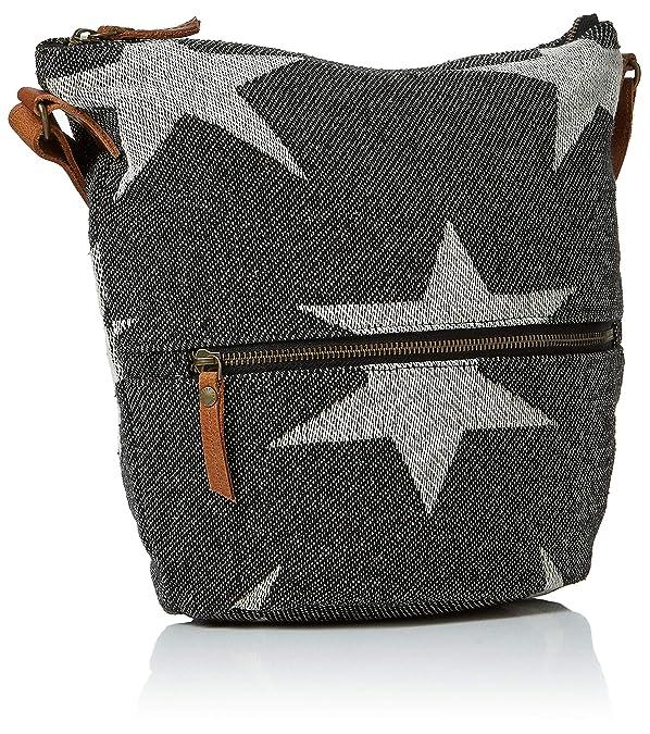 a7c8cb50492 Fat Face Women's Woven Star Tia Cross-Body Bag Black (Black): Amazon.co.uk:  Shoes & Bags