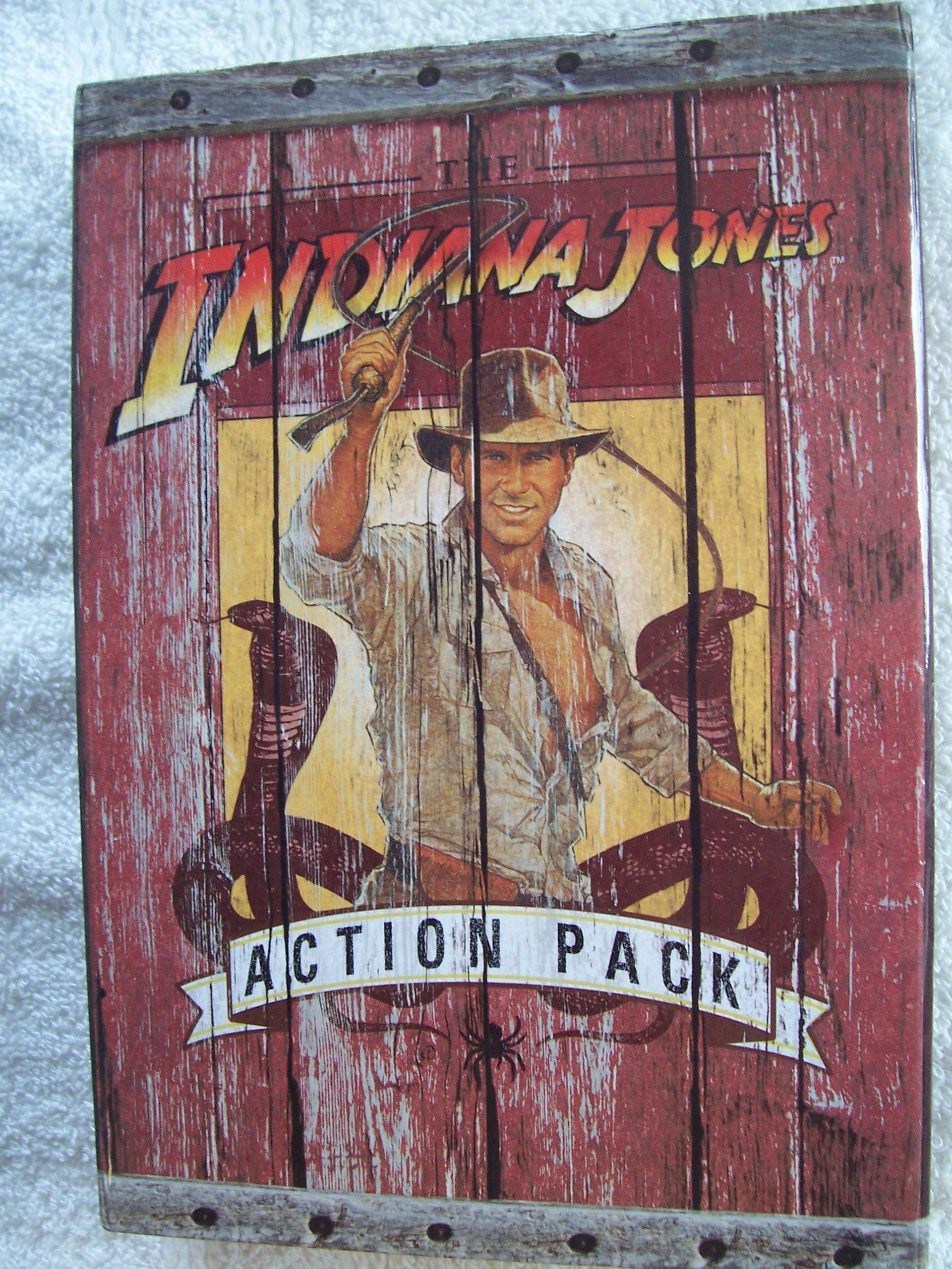 Indiana Jones Action Pack 3 Book Set plus Bonus Poster - Indiana Jones and the Pyramid of the Sorcerer, Indiana Jones and the Mystery of Mount Sinai, The Indiana Jones Handbook: The