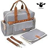 O'beanie Baby Diaper Bag | Designer Fashion Tote | Unisex Nautical Navy & Cream Stripe