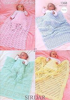 ... Free UK P/&P Sirdar Baby Blankets Crochet Pattern 1362  DK Sirdar-1362