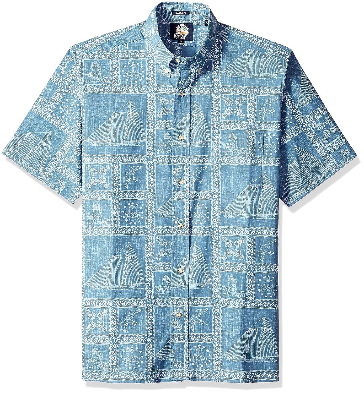 Reyn Spooner Mens Newport Sailor Spooner Kloth Classic Fit Hawaiian Shirt
