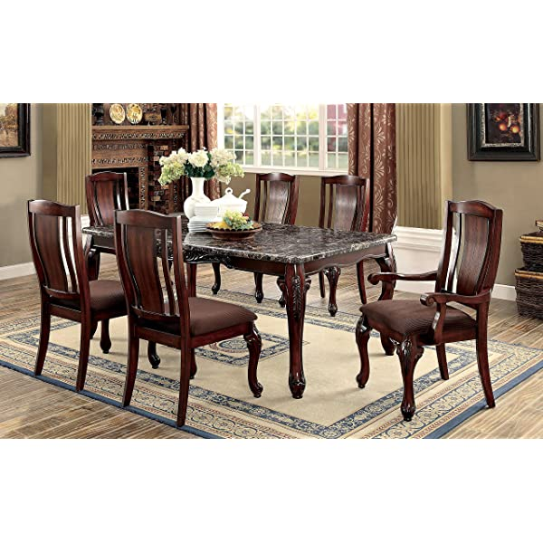 Furniture of America Grettal Cabriole Leg Dining Chair