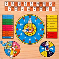 Toyshine Complete Time and Seasons Wooden Puzzle Toy, Educational and Learning Toy