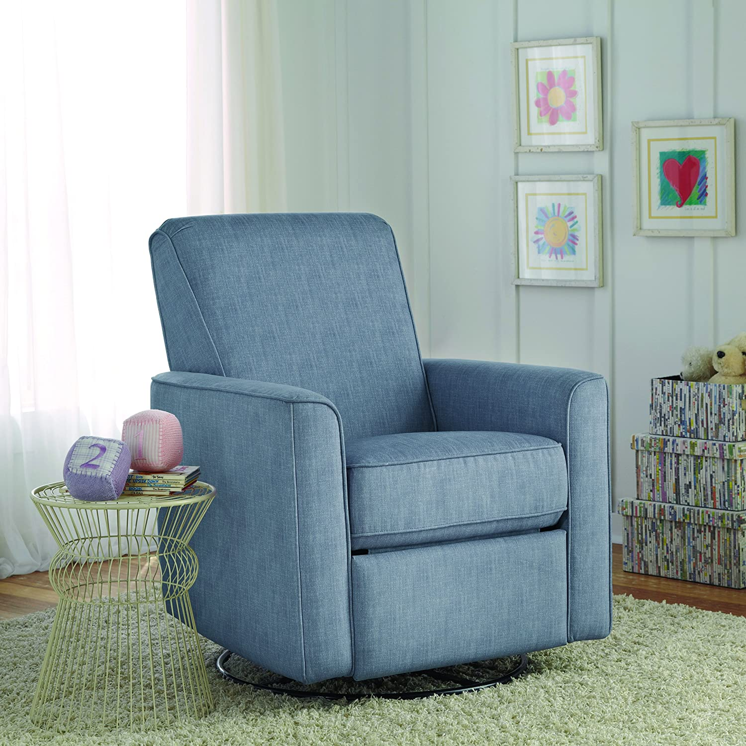 amazon com pulaski harmony swivel glider carlton dove kitchen