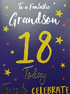 Grandson 18 Birthday Card Amazoncouk Office Products