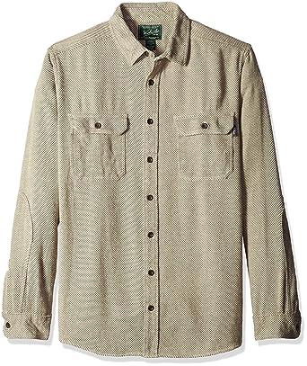 0749cc372 Amazon.com: Woolrich Men's Long Oxbow Bend Plaid Flannel Shirt: Clothing