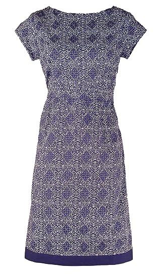 994239dea4d1f Debranded Slate Blue Purple Vintage Style Cotton Tea Dress  Amazon.co.uk   Clothing