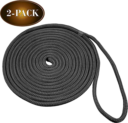 SAVE YOUR MONEY!! durable Color white Nylon dock lines double braid 25ft 1//2/'/'