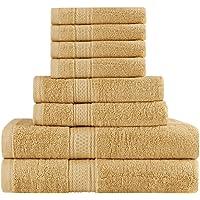 Utopia Towels Ensemble de Serviettes de Bain 8 pièces; 2 Serviettes de Bain, 2 essuie-Mains et 4 débarbouillettes - Coton - Qualité d'hôtel, Super Doux et très Absorbant