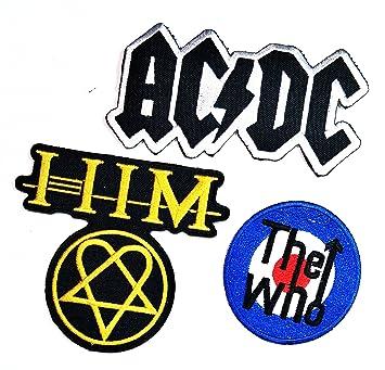 Juego de 3 piezas de parches AC DC ACDC The Who HIM Punk Rock Heavy Metal 1fb5dbf383f32