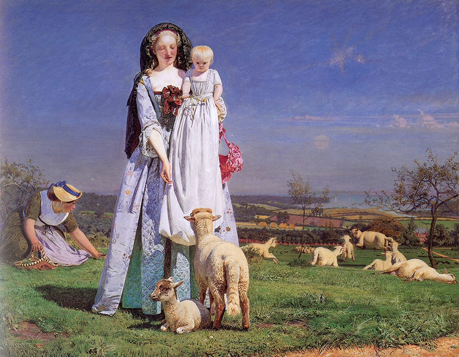 The Pretty Baa Lambs By Ford Madox Brown 20 X 25 Premium Canvas Print Posters Prints