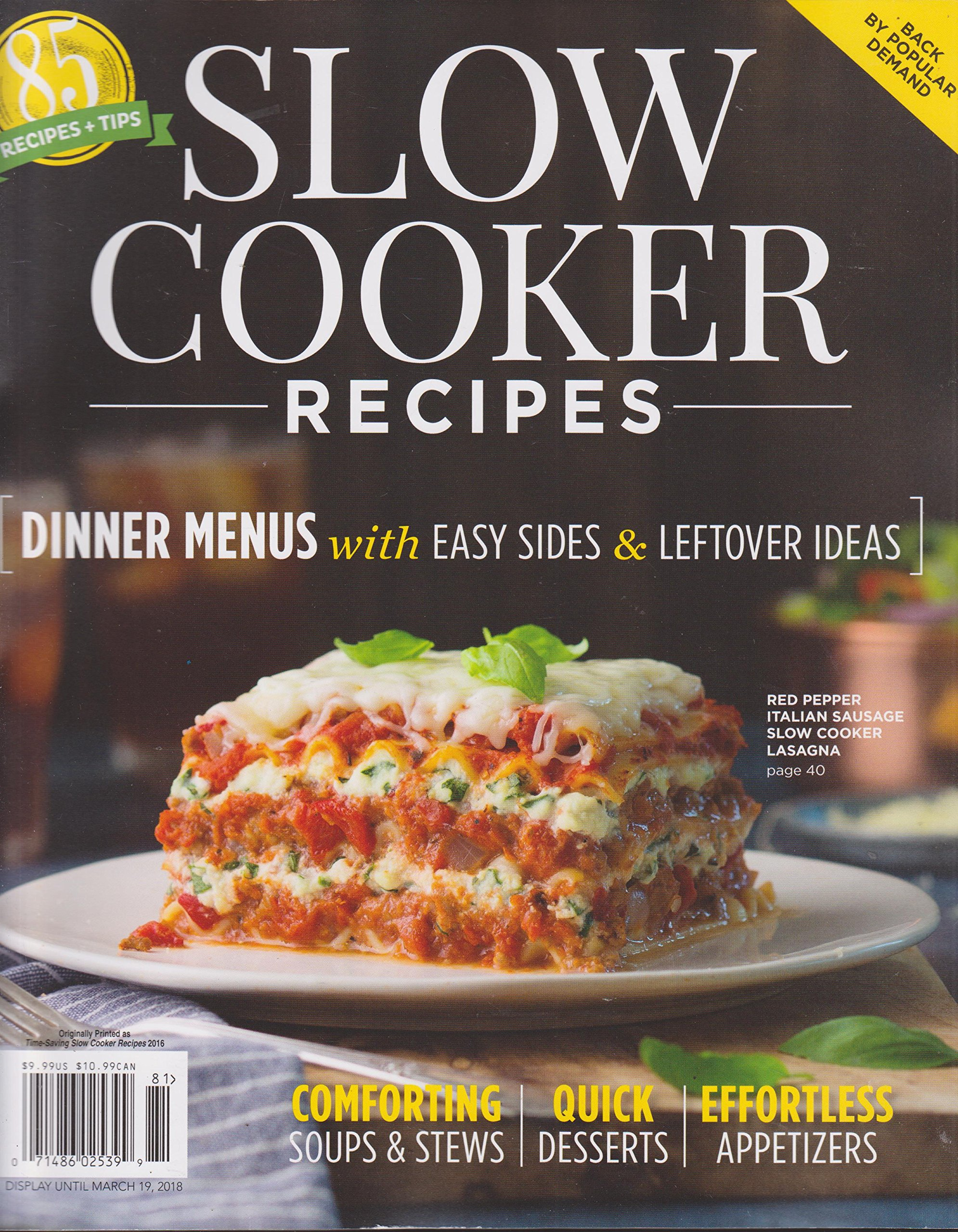 Hoffman Media Slow Cooker Recipes 2018 (85 Recipes+Tips) pdf