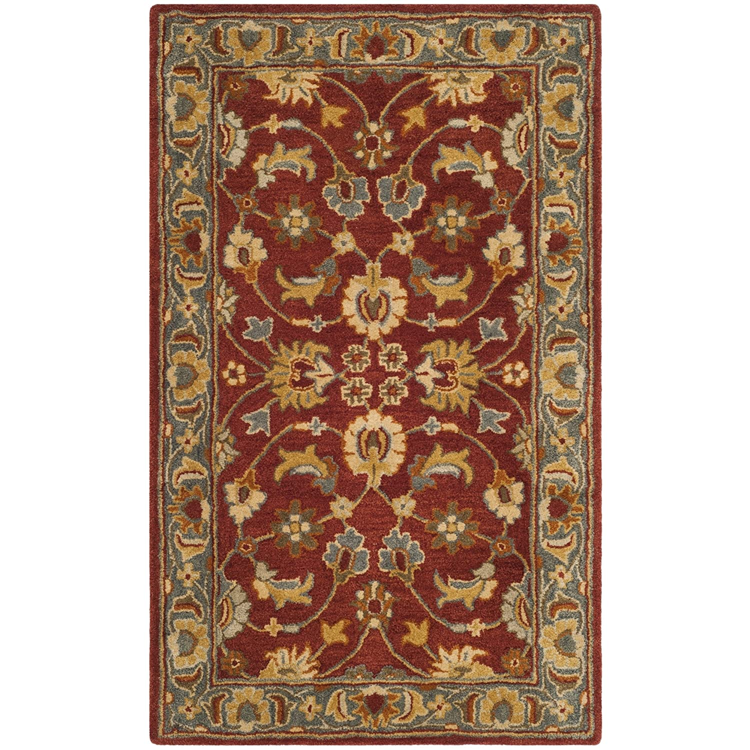 Safavieh Heritage Collection HG403A Traditional Red and Blue Runner 23 x 12