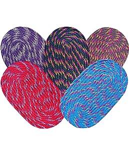 SHF Door Mats 100% Cotton for Home Set of 5 Piece 33x53 cm Multicolor