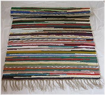 Fleckerlteppich  Orig. Mühlviertler Fleckerlteppich-Flickenteppich (bunt) 100 x ...