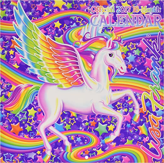 Amazon.com: Official 2017 LISA FRANK 18 Month Colorful Magical
