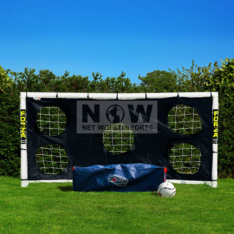 1 Jahr Garantie wetterfestes Fu/ßballtor 2,4 x 1,2 m FORZA Net World Sports
