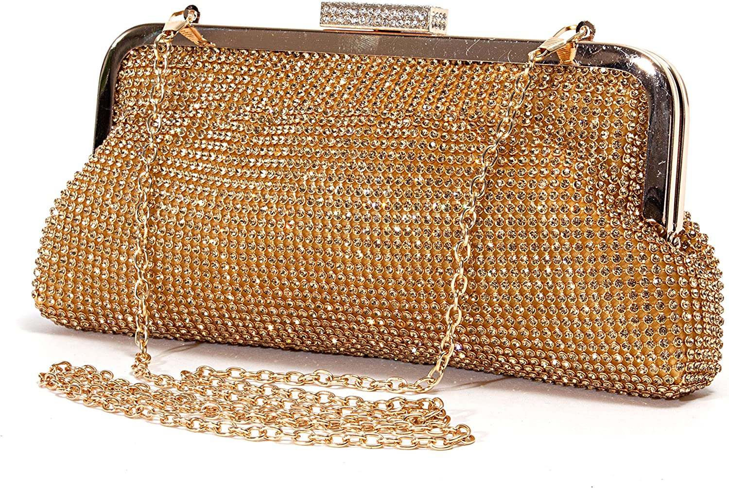 Bag 2015-7 Lady Couture Soft Rhinestone Embellished Clutch Bag by