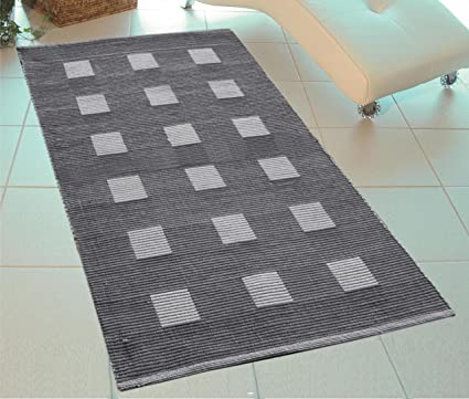 Saral Home Premium Quality Cotton Multi Purpose Handloom Made Rugs -70x130 cm