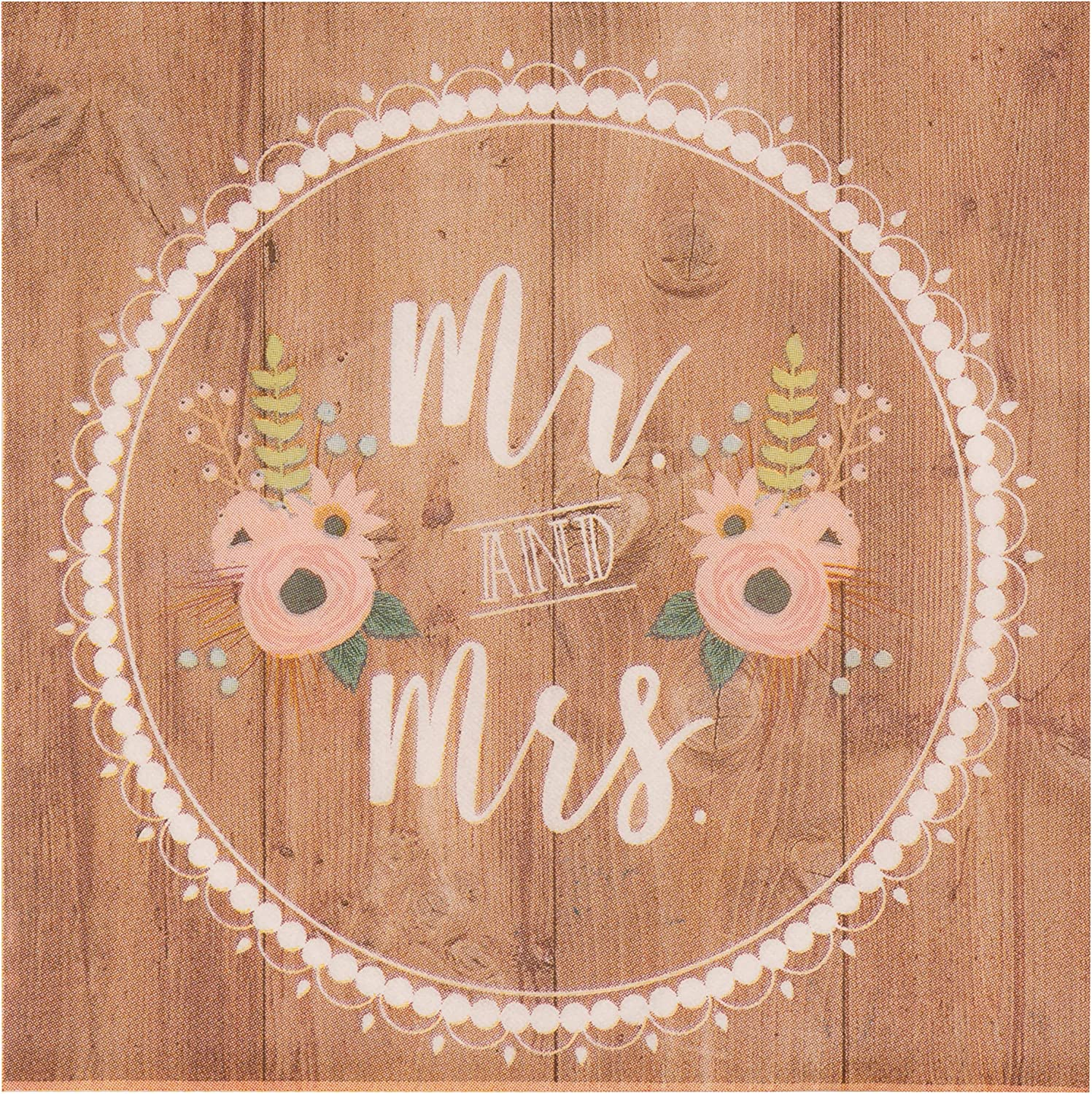 Mr. and Mrs. Paper Napkins for Weddings, (6.5 x 6.5 In, 150 Pack)